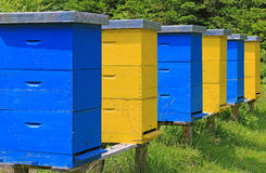 Beehives in a meadow Royalty Free Stock Photography