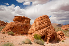 The Beehives. The unusual rock formations of The Beehives in the Valley of Fire State Park, Nevada, USA royalty free stock images