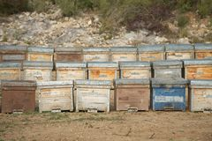 Beehives (wooden), Spain Stock Images