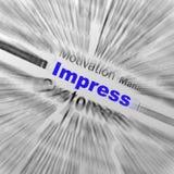 Beeindrucken Sie Bereich-Definitions-Anzeigen-zufrieden stellenden Eindruck oder ex stock abbildung