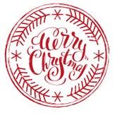 Beeindrucken Sie Druckstempel frohe Weihnachten vektor abbildung