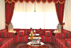 Lobbyinnenraum des Luxushotels Stockfotografie