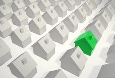 beeing различная зеленая дом одиночная Стоковое Фото