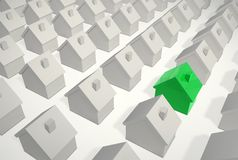 Beeing Different - Single Green House Stock Photo