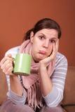 Beeing Sick Is No Fun Stock Photo