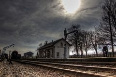 Beekbergen Steam Train Station. The historic steam train station at Beekbergen, The Netherlands in HDR Stock Photo