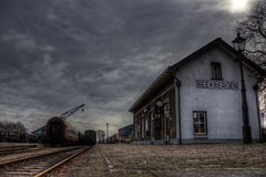 Beekbergen Steam Train Station. The historic steam train station at Beekbergen, The Netherlands in HDR Stock Photos