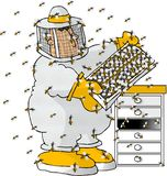 beekeeper stock illustrationer