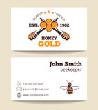Beekeeper vector business card template Stock Photo