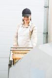 Beekeeper Working In Beekeeping Factory Stock Photography