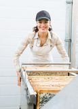 Beekeeper Working with Extractor Stock Images