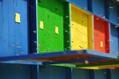 Beekeeping - Beehives Stock Photo