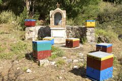 Beekeeping on Crete Stock Photography