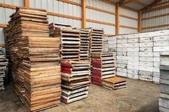 Beekeeping Equipment. In Buffalo, Wyoming royalty free stock image