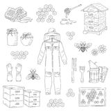 Beekeeping Equipment Collection Vector Royalty Free Stock Photography