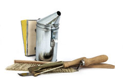 Beekeeping equipment. A set off new tools stock images