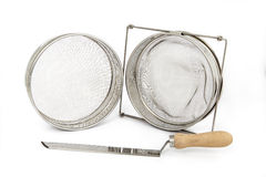 Beekeeping equipment. A set off new tools stock photo