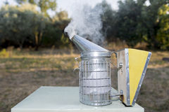 Beekeeping equipment. Smoker in new condition stock photography