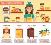 Beekeeping Honey Infographics Royalty Free Stock Photos