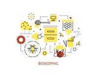 Beekeeping i miodu infographics Obraz Royalty Free