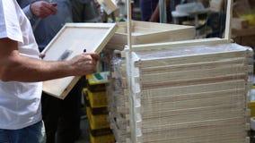Beekeeping wyposażenie - drewno ramy zdjęcie wideo