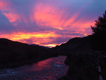 Beeld 16 van de zonsondergang stock foto's