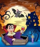 Beeld 2 van het vampierthema Stock Foto