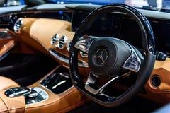 Beeld binnen van Mercedes Benz S 500 Royalty-vrije Stock Afbeeldingen