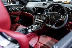 Beeld binnen van Mercedes Benz SL 400 Stock Foto's