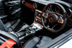 Beeld binnen van Mercedes Benz SLC 43 Stock Afbeelding