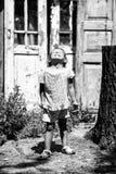 Beeld de uitdrukking van een klein meisje Royalty-vrije Stock Afbeeldingen