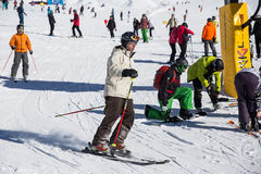 Het ski?en Stock Foto