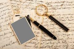 Beeld en brieven royalty-vrije stock foto