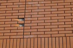 Beeld Grunge van de achtergrond het rode bakstenen muurtextuur Stock Foto