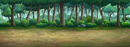 Beeld in het bos wordt geschilderd dat stock illustratie