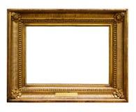 Beeld houten overladen kader voor ontwerp op wit ge?soleerde achtergrond royalty-vrije stock foto