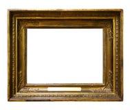 Beeld houten overladen kader voor ontwerp op wit ge?soleerde achtergrond stock fotografie