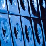 Beeld met blauwe ceramiektegels Stock Afbeeldingen