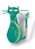 Beeld met de kat van de regenboogkleur vector illustratie