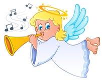 Beeld met engel 3 vector illustratie
