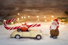 Beeld met Kerstmisdecoratie stock fotografie