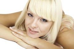 Beeld met mooi blonde meisje Stock Afbeeldingen