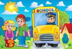 Beeld met onderwerp 7 van de schoolbus stock illustratie