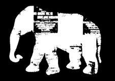 Beeld met zwart-witte olifant royalty-vrije illustratie