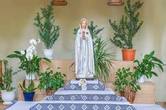 Beeld - Moeder van God, Maagdelijke Mary in de tempel Olga en Elizabeth in Lviv stock fotografie