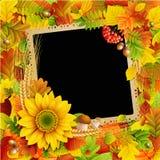 Beeld op de herfstachtergrond stock illustratie