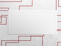 Beeld op de muur, het 3d teruggeven, Stock Afbeeldingen