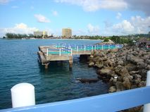 Beeld op een Caraïbische cruise aan diverse tropische bestemmingen wordt genomen die royalty-vrije stock foto