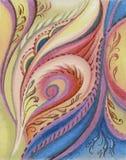 Beeld, pastelkleur, samenvatting stock illustratie
