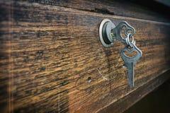 Beeld twee sleutels voorzag samen van een lus Royalty-vrije Stock Afbeeldingen